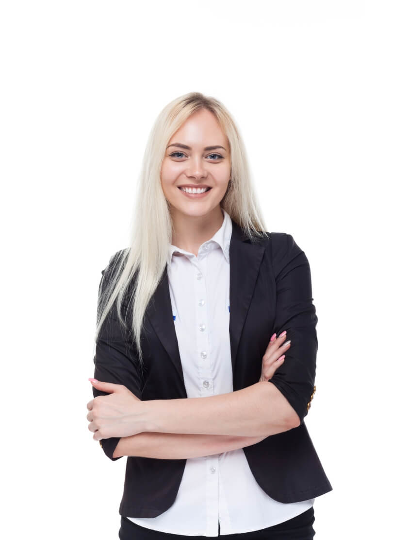 young-blonde-businesswoman-smile-folded-hands-8NLTMKR